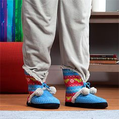 adb970501d17 Wonder Woman Knit Bootie Slipper