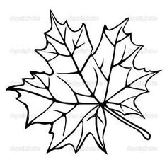 Image detail for -Silhouette of the maple leaf | Stock Photo © Sergey YAkovlev ...