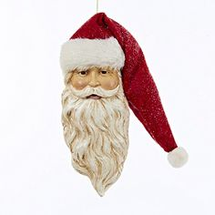 Pack of 6 Red Santa Head Decorative Christmas Ornaments ** To view further for this item, visit the image link.