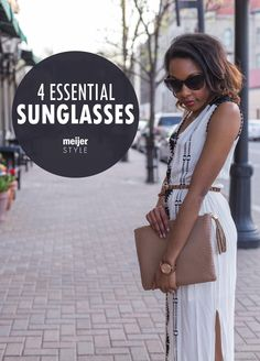 This summer, let your sunglasses change with your wardrobe. Here are 4 must-have styles that will allow you to pair your favorite shades with any outfit. #MeijerStyle @candacemread