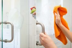 11 Brilliant Hacks to Clean Glass Shower Doors  - Organization Obsesssed