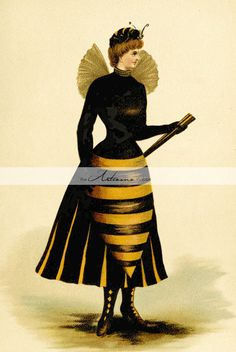Printable Art Instant Download - The Hornet Bee Girl - Paper Crafts Scrapbook Altered Art - Antique Vintage Woman in Bee Hornet Costume Art  The Hornet Girl - High Resolution 300 dpi Jpg - Instant Digital Download  This is a digital item for instant download. Watermark will be removed on the original file you will receive.  * WHAT YOU WILL GET  You ll receive a digital image file within minutes after you have paid sent to your email address.  Format: jpeg File Size 4 MB Resolution: 300 dpi…