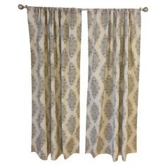 Frame a master suite or living room window in patterned style with this bold curtain panel, featuring an eye-catching medallion print.