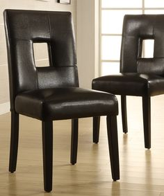 Loving this Black Hadley Side Chairs - Set of Two on #zulily! #zulilyfinds