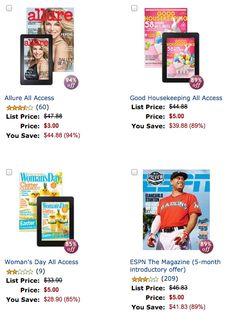 $5 Magazine Deals @Amazon - ends March 31st, get your deal-->