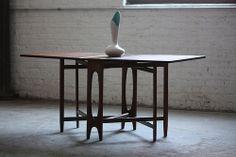 Unique Bendt Winge Mid Century Modern Drop Leaf Dining Table Model NR4 for Kleppes Mobelfabrik (Norway, 1950s) | Flickr - Photo Sharing!
