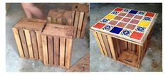 Home diy on pinterest for Coffee table made out of wooden crates