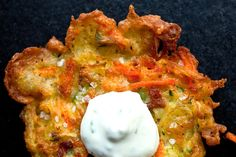 Zucchini and Carrot Fritters With Yogurt-Mint Dip Recipe - NYT Cooking Dip Recipes, Cooking Recipes, Nytimes Recipes, Cooking Nytimes, Miso Ginger Dressing, Galette, Lunches And Dinners, Main Dishes, Side Dishes