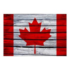 Shop Canadian Flag Rustic Wood Canvas Print created by SnappyDressers. Personalize it with photos & text or purchase as is! Pallet Flag, Wooden Flag, Wooden Signs, Flag Painting, Flag Signs, Wood Canvas, Leaf Art, How To Distress Wood, Rustic Wood