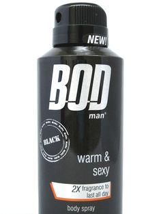 Bod Man Black for Men Body Spray 4 oz