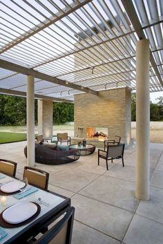 Concrete Flooring Finish In Outdoor Home Living Area