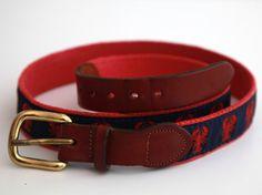 Vintage 80s preppy lobster belt leather man ltd.