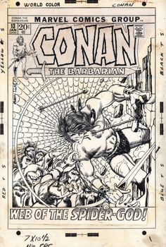 the cover to Conan the Barbarian #13 by Barry Windsor-Smith