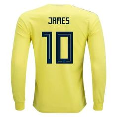 5a2f9aafa 2018 World Cup Jersey Colombia James LS Home Replica Yellow Shirt 2018  World Cup Jersey Colombia James LS Home Replica Yellow Shirt