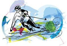 #skiing #sports #snow #art