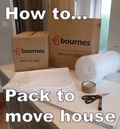 how to pack to move house including the materials and boxes you'll need as well as some great packing technique tips!