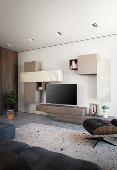 units in living room interior design Living Room Corner Furniture, Ikea Living Room, Bedroom Furniture Design, Small Living Rooms, Small Bedrooms, Tv Unit Interior Design, Interior Design Living Room, Room Interior, Tv Unit Bedroom