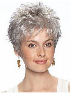 Image result for short curly hairstyles for grey hair