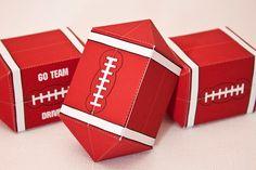 FOOTBALL Favor Box : DIY Printable PDF - Instant Download