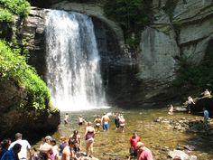 Looking Glass Falls, North Carolina swimming pools, glasses, north carolina waterfalls, looking glass falls, asheville nc