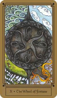 April 20 Tarot Card: The Wheel of Fortune (Fantastical Tarot deck) Open up to the natural flow of change