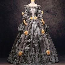 gris plata / oro de lujo medieval reina vestido renacentista vestido victoriano La Venecia vestido de