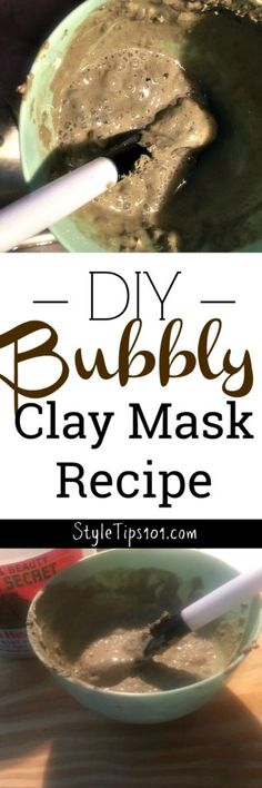 Homemade Bubbly Clay Mask