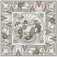 filet - Larisa K - Picasa Web Albümleri Cross Stitch Angels, Cross Stitch Love, Cross Stitch Borders, Counted Cross Stitch Patterns, Cross Stitch Designs, Filet Crochet, Crochet Lace, Crochet Stitches, Crochet Patterns