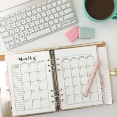 Hello everyone! I'm back again with another printable planner insert! Today, I'm sharing a monthly view planner insert!  I've been wanting to make a monthly calendar for a while n…