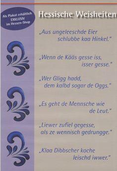 Die 110 Besten Bilder Von Hessisch Hessisch Sprüche Und