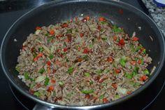 Mi Diversión en la cocina: Apagallums Rellenos de Carne Gratinados al Horno