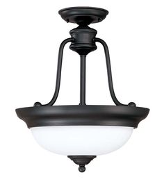 View the Nuvo Lighting 60/2429 Glenwood 3 Light Semi-Flush Energy Star Rated Indoor Ceiling Fixture - 15 Inches Wide at LightingDirect.com.