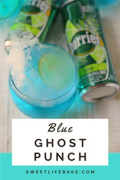 Just in time for Halloween, I'm sharing this spooky delicious cocktail in honor of the USS Lexington. The Blue Ghost Punch is a delicious mix of vodka, Lime PERRIER® and blue Curacao. #halloween #punch #blueghostpunch #sweetlifebake #sweetlife #sweetliferecipes | sweetlifebake.com @sweetlifebake Uss Lexington, Halloween Punch, Vodka Lime, Blue Curacao, Sweet Life, Allrecipes, Cocktails, Yummy Food, Baking