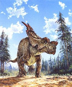 "Achelousaurus, Michael Skrepnick. ""To the Ends of the Earth, will you follow Me...."""