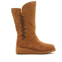 BEARPAW® Camila Suede Wedge Boot with NeverWet™ -