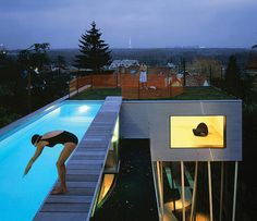 Peter Aaron/ Otto ~ On View> The Julius Shulman Institute Explores Defining Photos of Architecture and Design #art #artist #architecture #architect #diver #pool