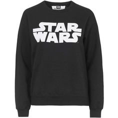 Star Wars Sweatshirt by Tee and Cake found on Polyvore featuring tops, hoodies, sweatshirts, black, black sweatshirt, logo sweatshirts, sweat tops, black sweat shirt and black top