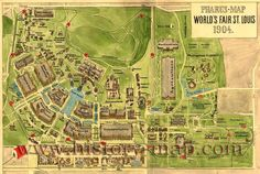 Map of 1904 World's Fair attractions in Forest Park. St. Louis, Mo.