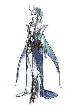 Character Art. Humanoid Female Spell Caster