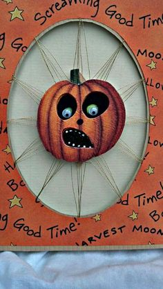 Handmade Halloween card with jackolantern by AnniesKreations, $6.00