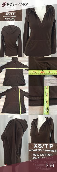 💌XS North Face Brown Hooded Pull-over Sweatshirt Measurements are in photos. Normal wash wear, no flaws. B1  I do not comment to my buyers after purchases, do to their privacy. If you would like any reassurance after your purchase that I did receive your order, please feel free to comment on the listing and I will promptly respond. I ship everyday and I always package safely. Thanks! The North Face Tops Sweatshirts & Hoodies