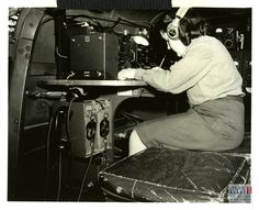 Woman radio operator of the Free French forces in Sessa Aurunca, Italy on 15 April 1944. U.S. Army Signal Corps photograph, from The Digital Collections of the National WWII Museum, 2002.337.168.