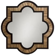 The Hayworth Geometric Mirror evokes the elegance of its namesake, bringing lasting style to your bedroom or living room display. An intriguingly curving des...