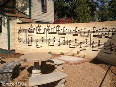 Sheet music wall, Tattered Style