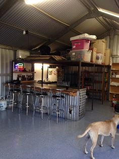 Our workshop/shed has 3 phase power and has recently had a bar installed and epoxy flooring put down. Ultimate man cave!
