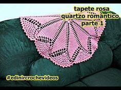 TAPETE DE CROCHÊ ROSA QUARTZO ROMÂNTICO PARTE 1 | DIY - CROCHET