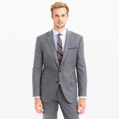 Crosby suit jacket in heathered Italian wool flannel - The Private Suiting Event -Men- J.Crew