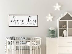 Dream big little one wood sign Nursery Wood Sign, Nursery Signs, Nursery Room, Nursery Wall Art, Nursery Decor, Wall Decor, Cute Bedroom Decor, Selling Handmade Items, Big Little