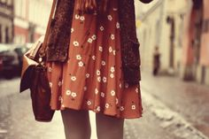 Flowery dresses and leather satchels.