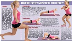 Stay fit forever with this 24-minute workout!  Tone up every muscles in your Body. This workout plan is based on a growing body of research that shows combining resistance training with short bursts of cardiovascular activity burns far more body fat than doing the two separately. In short you get double the impact in half the time; it recommends doing the exercise plan four times a week.